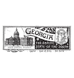 The state banner of georgia vintage vector
