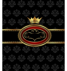 vintage background with heraldic crown - vector image vector image