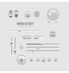 Web UI Elements vector image vector image
