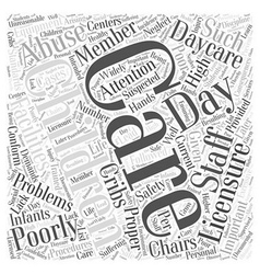 Why is day care licensure important word cloud vector