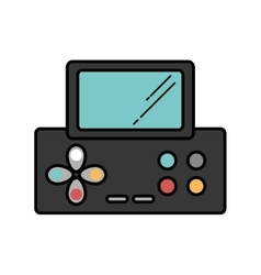 Video game console portable vector
