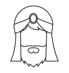 Wiseman cartoon of epiphany design vector