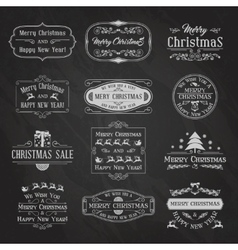 Christmas chalkboard set2 vector