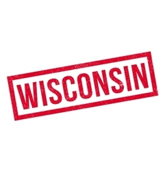 Wisconsin rubber stamp vector image