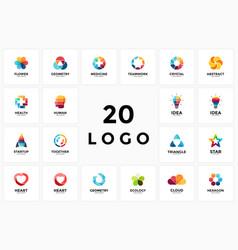 logo circle creative sign symbol design geometric vector image