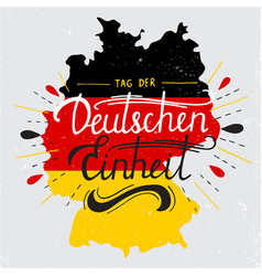 Day of german unity lettering vector