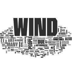 Wind text word cloud concept vector