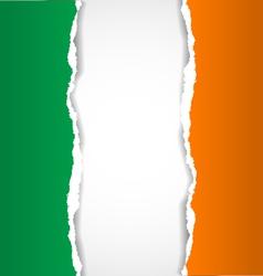 Irish flag background vector image