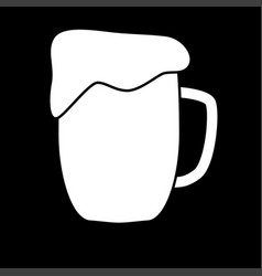 cup beer white color icon vector image
