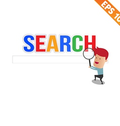 Magnifier enlarges for search concept - - ep vector