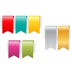 Ribbon set on white background vector