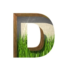 Grass cutted figure d paste to any background vector