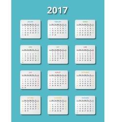 2017 calendar template planner month vector