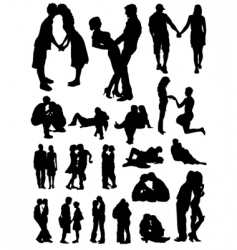 Romantic couples set vector