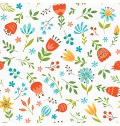 Spring floral pattern vector