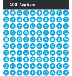 100 app icons vector