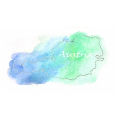 Austria watercolor map vector