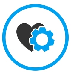 Heart repair icon vector