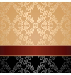 seamless pattern floral decorative background maro vector image
