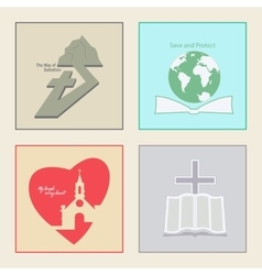 Logos for church vector