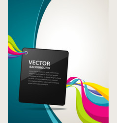Abstract artistic colorful ribbon background vector
