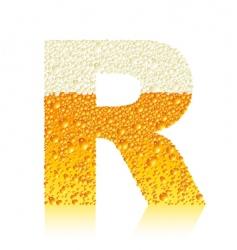 alphabet beer r vector image vector image