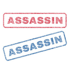 Assassin textile stamps vector