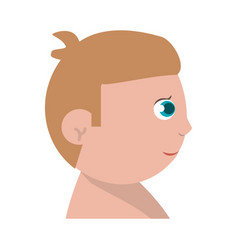 Baby child son head image vector