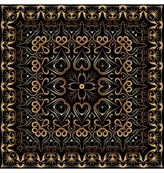 Bandanna with gold pattern vector image