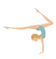 Beautiful gymnastic girl performing vector image