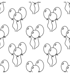 Black and white seamless pattern with balloons for vector image