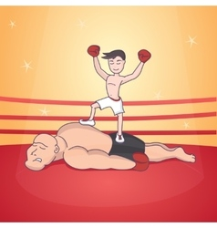 Boxing duel fight in the ring vector
