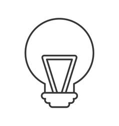 Bulb light idea isolated icon vector