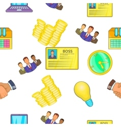 Business pattern cartoon style vector