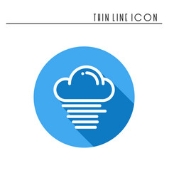 Cloud sky fog mist line simple icon weather vector