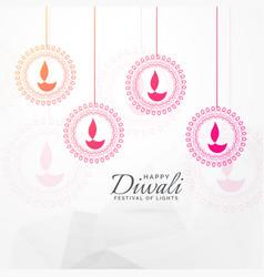 Creative diwali festival greeting card design vector