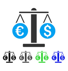 Currency weight flat icon vector
