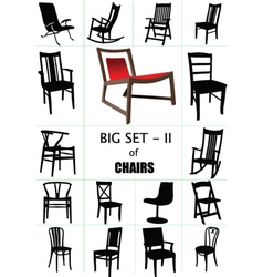 designer chair set vector image