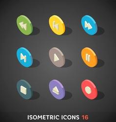 Flat Isometric Icons Set 16 vector image