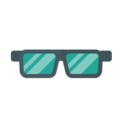glasses isolated on background vector image vector image