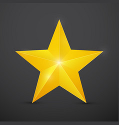 golden christmas star on dark background vector image