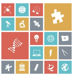 Icons tile science vector