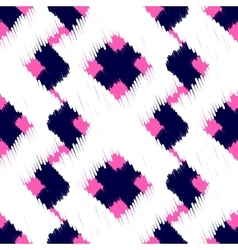 Ikat scribble swabs seamless pattern vector