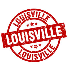 Louisville red round grunge stamp vector