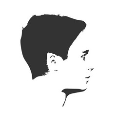 man monochrome portrait vector image vector image