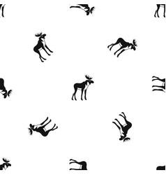 moose pattern seamless black vector image vector image