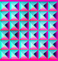 neon color triangle seamless pattern vector image vector image