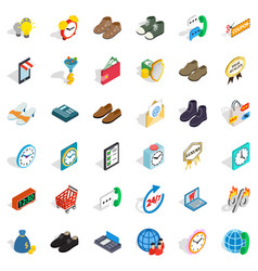 Online trade icons set isometric style vector