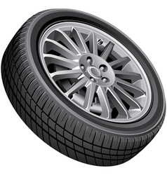 Passengers cars wheel vector image