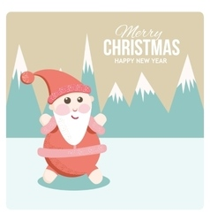 Satisfied santa on holiday cards vector